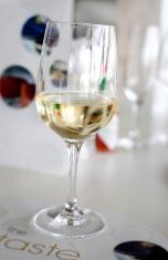 wine glass on bar