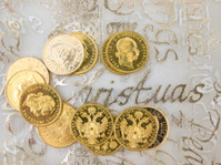 Gold coins for present