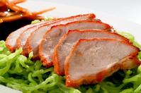 Noodle Roast duck on plate