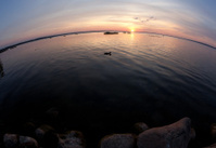Decline on lake Pleshcheevom