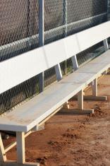 Metal dugout bench