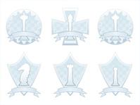 White Chess crests