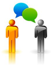 conversation between two people