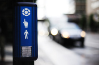 Pushbutton for zebra crossing