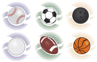 Sports Balls with Background