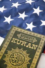 American Flag and Koran