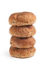 Multi grain bread rolls on a pile