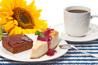 Brownie, Lemon Pie and Coffee