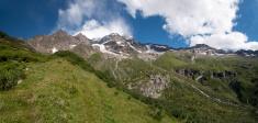 Green valley,monte rosa,alps,glacier
