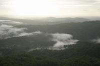 Sunrise with Valley Mists Sunshine Coast Australia