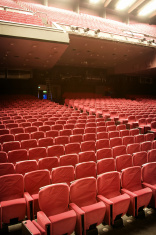 Red velvet theatre seating