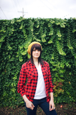 Red Flannel Hedge Woman