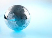 Metal earth globe jigsaw showing North America.