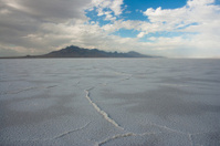 Utah Salt Flats and distant mountains