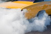 Burnout at a race