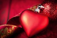 Crimson Christmas Heart bauble