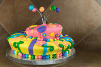 Fancy Decorated Birthday Cake