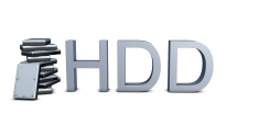 Harddrives with 3d text HDD