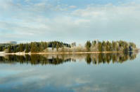 norwegian lake in winter
