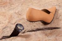 Shoe and broken heel
