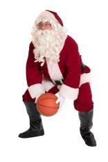 Santa Playing Basketball - Sports Series