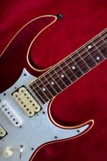 Red Behind Guitar