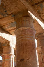 Egypt. Column in the Temple of Karnak