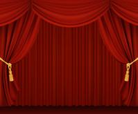 Red curtains. Gradient Mesh Version.