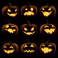 Halloween Pumpkin Set - silhouette