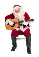 Santa Claus Playing The Guitar - Music Series