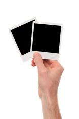 Blank polaroid pictures