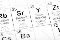Periodic Table Element Strontium and Yttrium