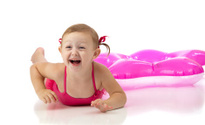 Laughing Swimmer Girl