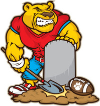 Cougar Mascot Grave