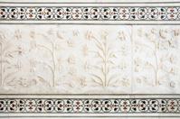 Marble detail on Taj Mahal