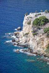 Beautiful coastline at Greece island Thassos
