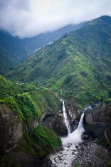Agoyan Waterfall, Ecuador, Latin America