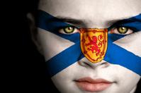 Nova Scotia Canadian Flag Boy