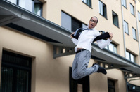 Jumping Businessman Portrait Series
