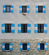 Nine Windows wall