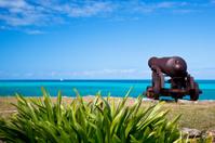 Cannon Overlooking Turquoise Caribbean Sea