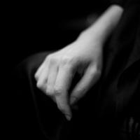Resting hand.