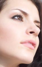 Close up of beautiful woman's face