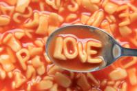 Alphabet soup word - LOVE