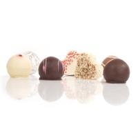 Chocolates isolated on white
