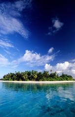 Maldives, Huvadhoo Atoll, island.