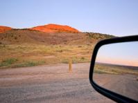 road trip sunrise landscape