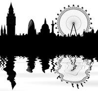 London skyline and reflection