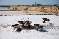 wheelbarrows for salt collection