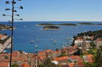 Hvar Harbor, from above town.